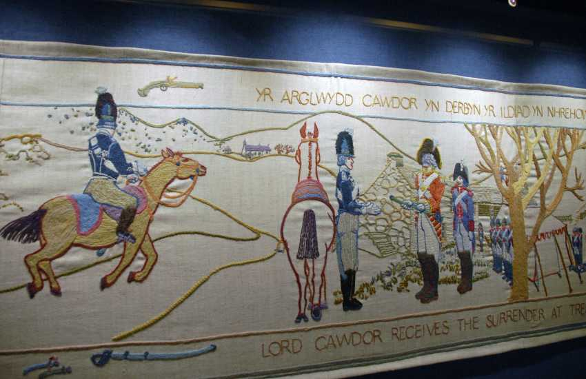 Fishguard Town Hall is home to the 100' long 'Last Invasion Tapestry' which tells the story of Britain being invaded by France