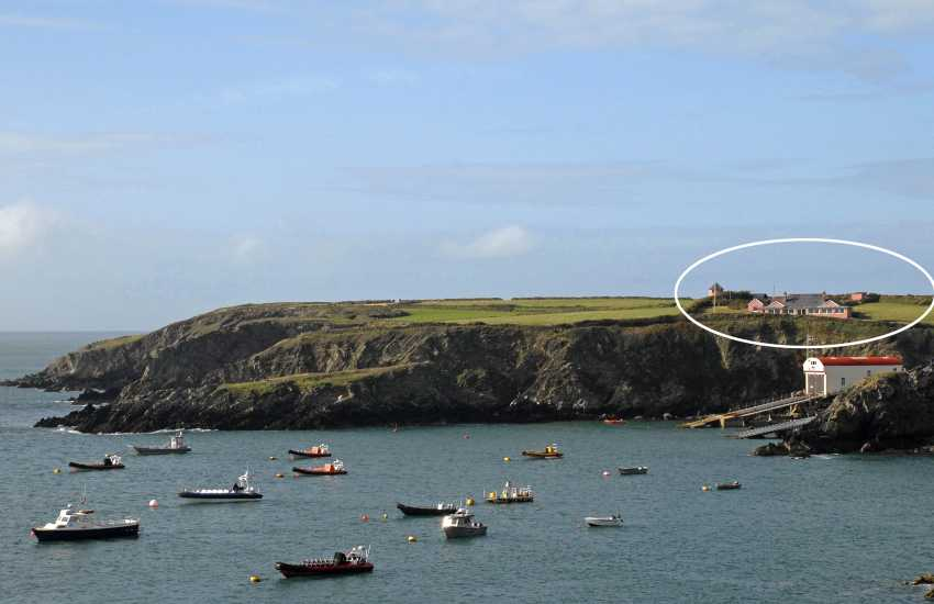 Holiday bungalow over looking Ramsey Island, Pembrokeshire