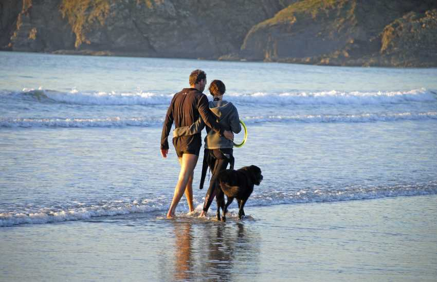 Enjoying the beach together - most Quality Cottages welcome pets