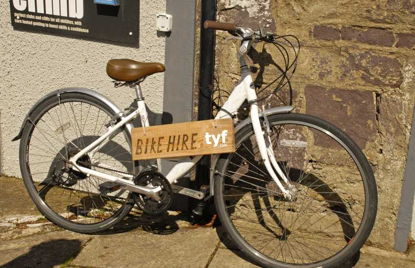 Hire a bike from TYF Adventure and explore quiet country lanes and cycle trails