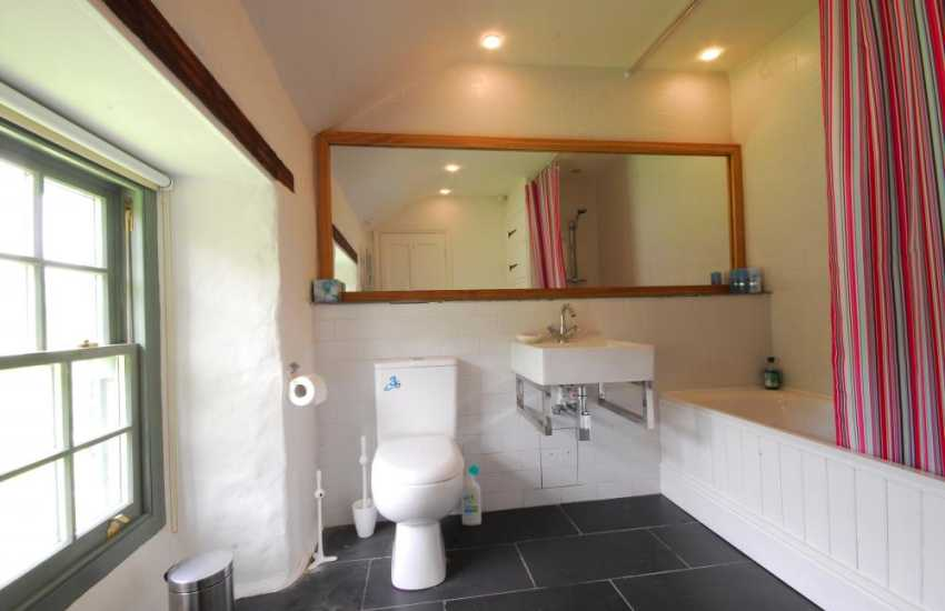 Bathroom at mountain retreat