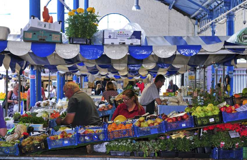 Abergavenny Food Festival and indoor market are famous for local delicacies and artisan delights