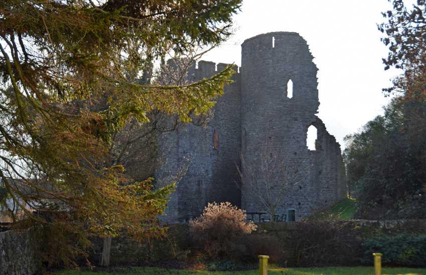 The castle at Crickhowell still dominates the skyline