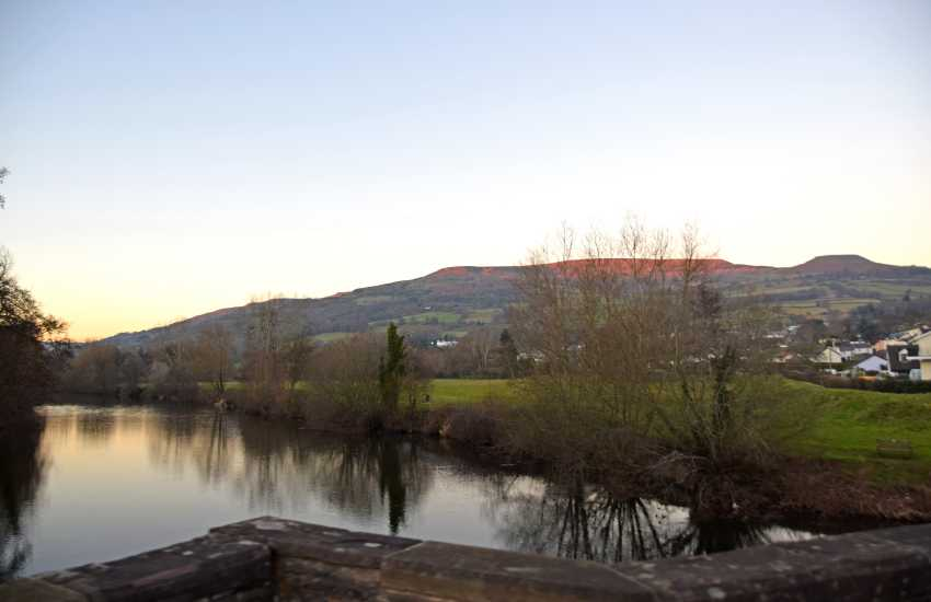 Stunning views of The Usk Valley