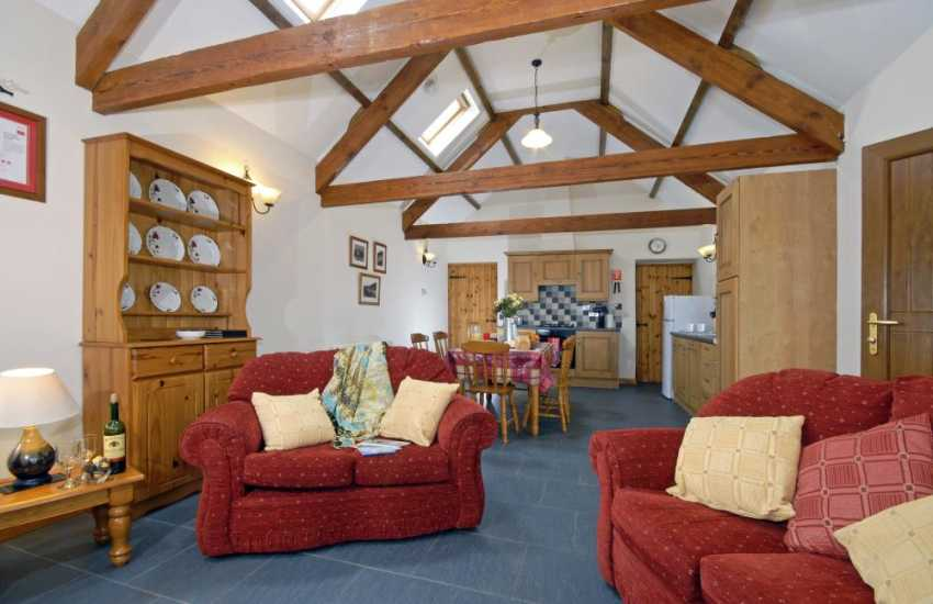 Pet friendly Cardigan Bay holiday cottage with open plan living area