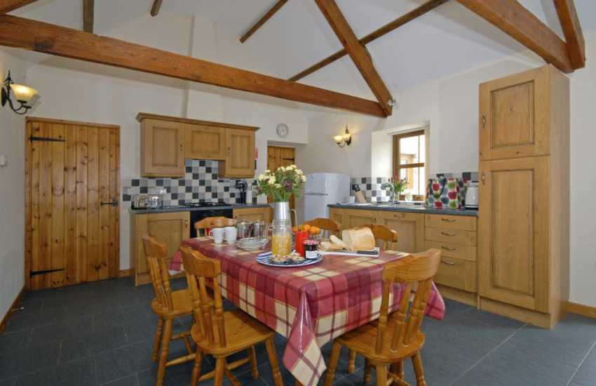Newcastle Emlyn spacious holiday home - open plan kitchen/dining room