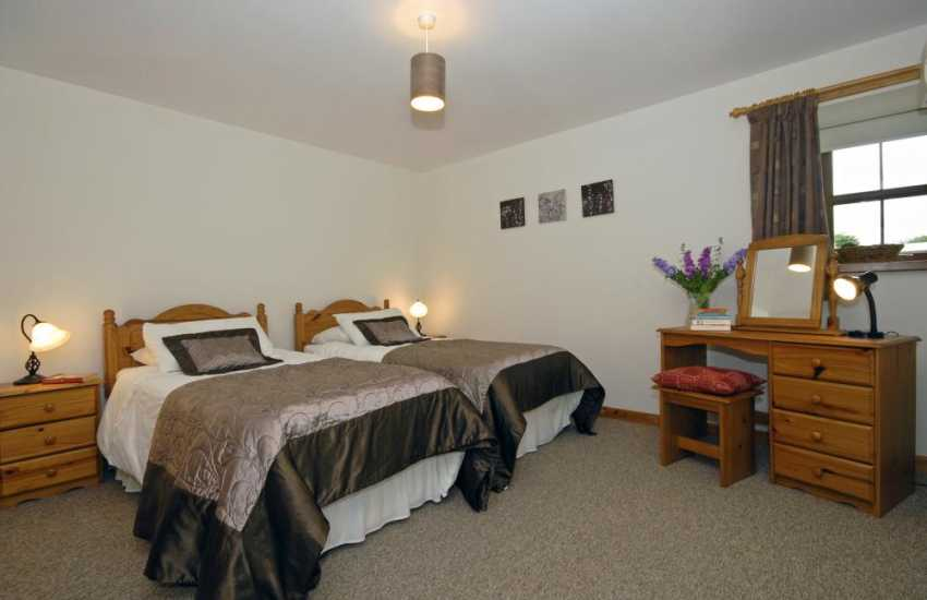 New Quay holiday house on Cardigan Bay sleeps 6 - ground floor twin with en suite wet room
