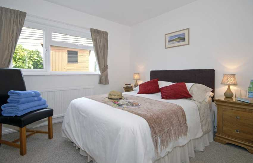 St Davids holiday cottage - double bedroom with garden views