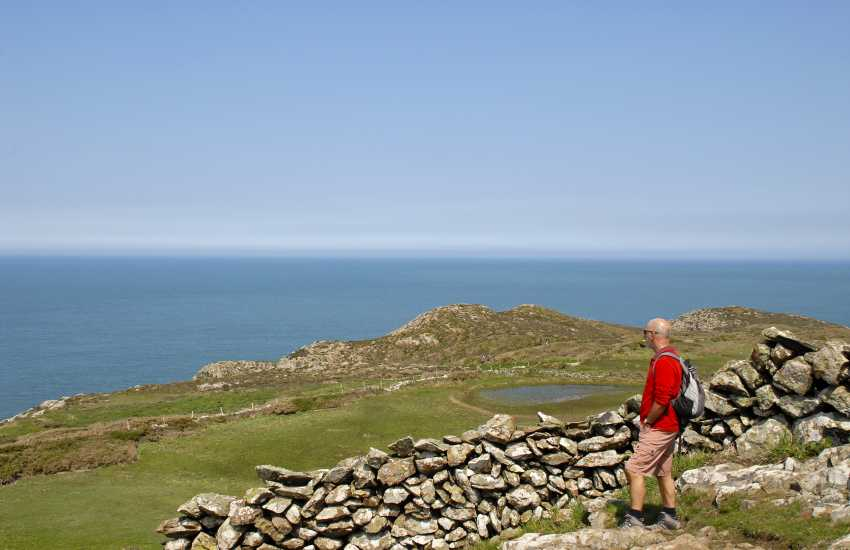 The Pembrokeshire Coast Path at Strumble Head - enjoy stunning cliff top scenery along the way