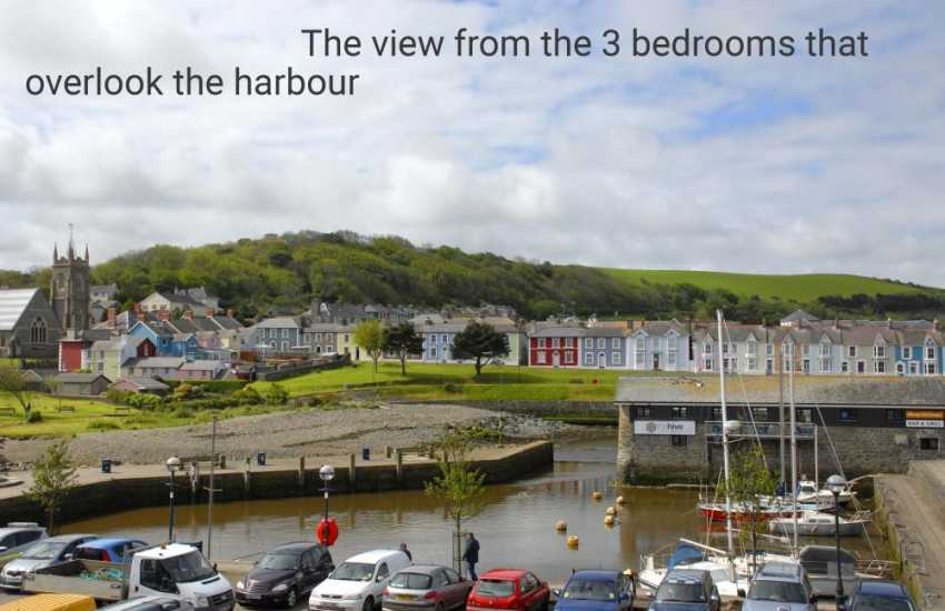 Enjoy stunning views from the house over Aberaeron's inner harbour