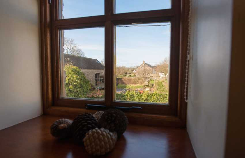 Cottage holiday on the Gower - bedroom views
