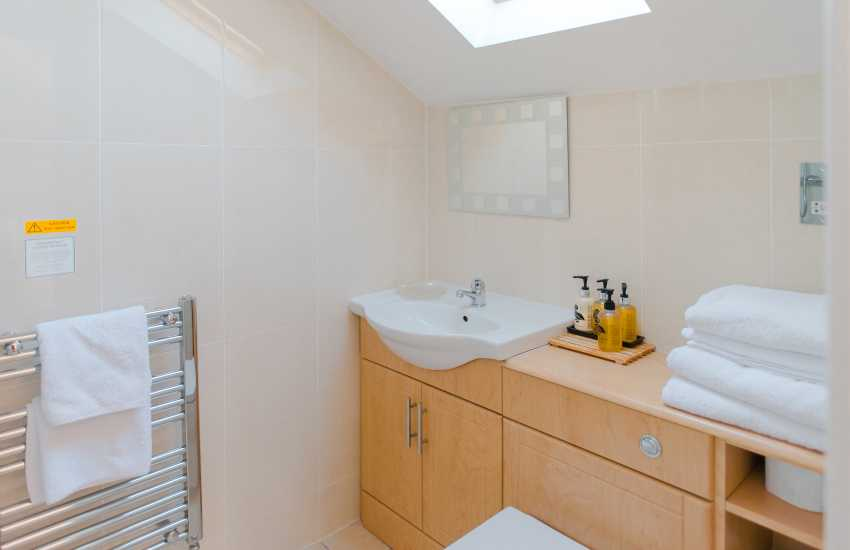 Gower holiday home sleeps16 - bathroom