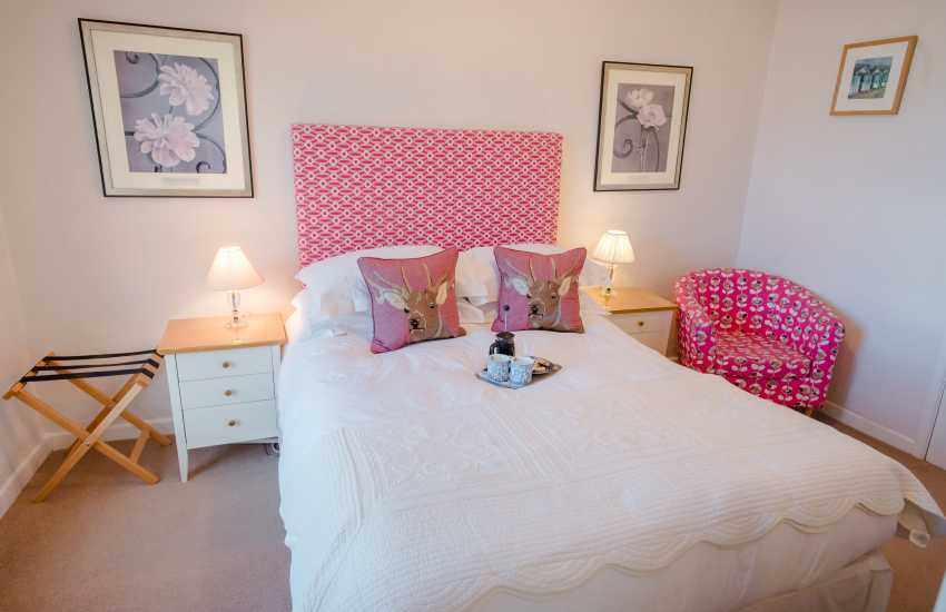 Georgian town house for holidays on the Gower - double bedroom