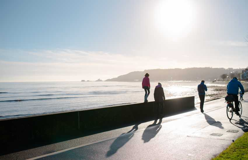 On the doorstep, take a leisurely five-minute stroll along 'The Prom' as locals call it and you arrive in Mumbles Village