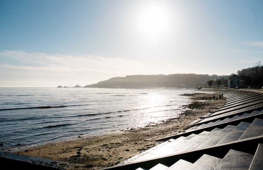 A fantastic location overlooking the beach with unrivalled views of Mumbles
