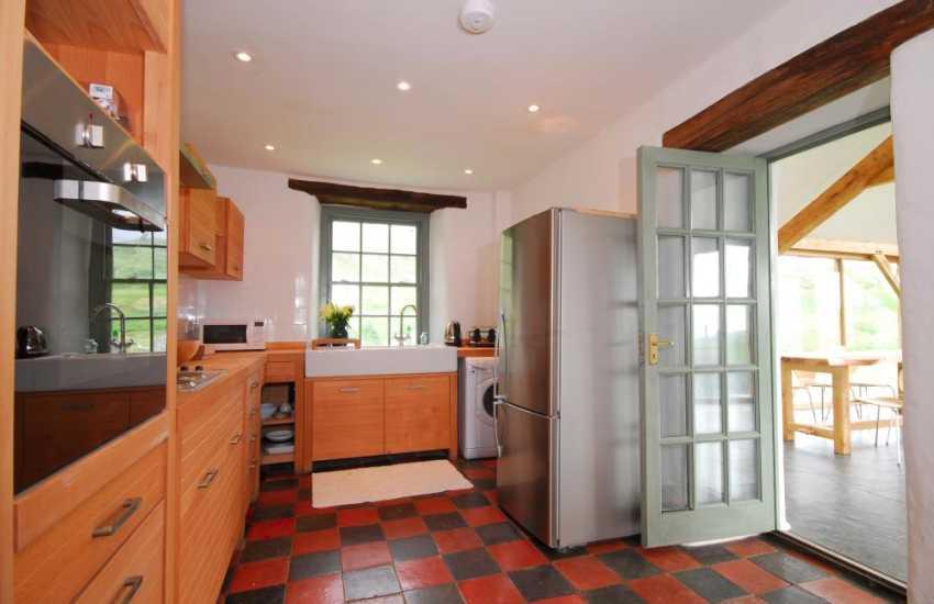 Kitchen at Harlech holiday home