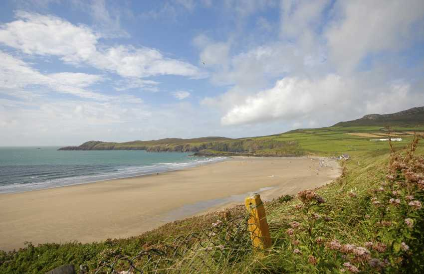 Whitesands Bay (Blue Flag) - one of the best surfing beaches in Pembrokeshire very popular with families and water sports enthusiasts