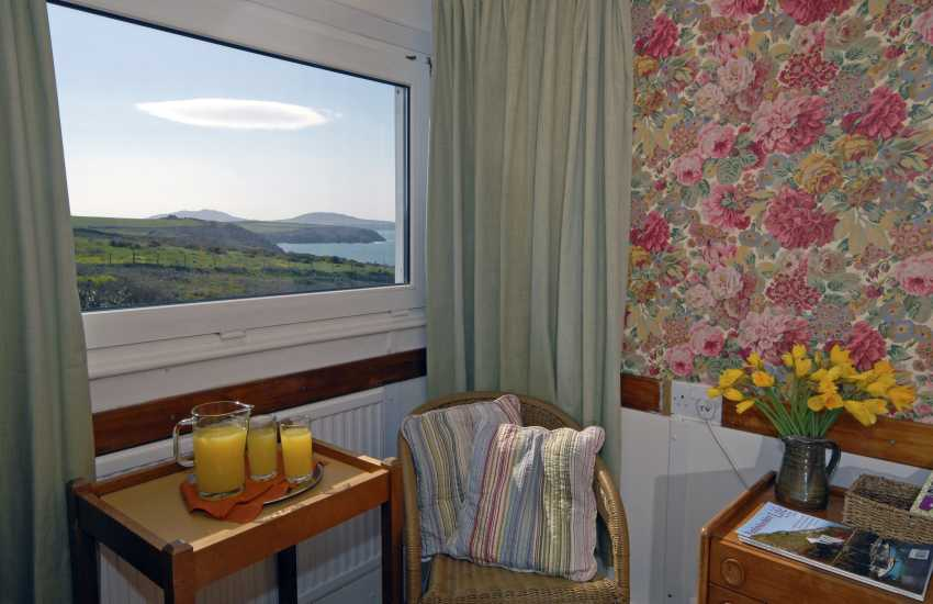 Coastal views to Ramsey Island from the first floor twin