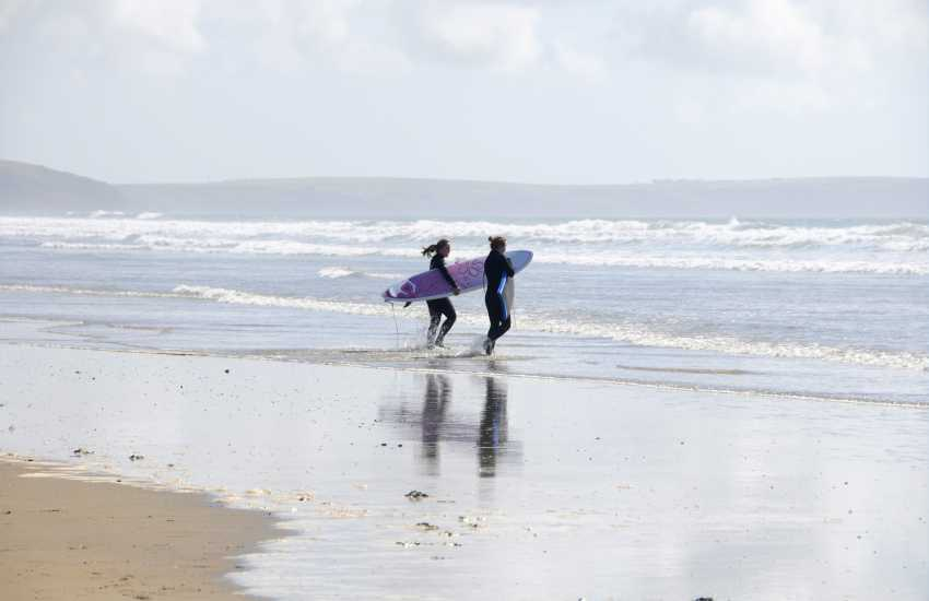 Newgale Beach is another favourite with water-sport enthusiasts - surfing, kayaking, kite surfing and sea fishing