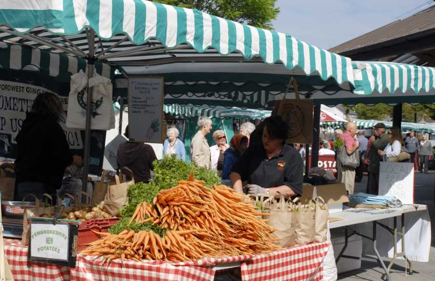 Do visit Haverfordwest's award winning weekly farmer's market for plenty of local Pembrokshire produce on offer