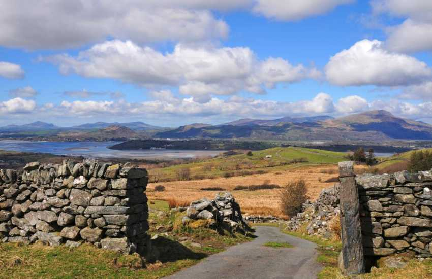 The views from the lane right across Snowdonia & the Lleyn