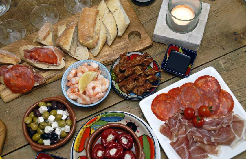 Share tapas at 'Ultracomeda', the Spanish delicatessen, restaurant and tapas bar in the High Street