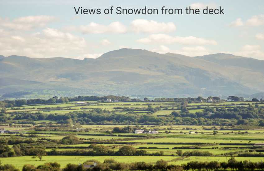 Views of Snowdon from the deck