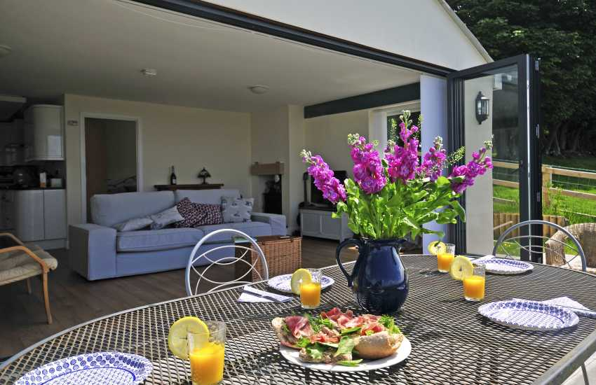 Holiday cottage Monmouthshire - patio