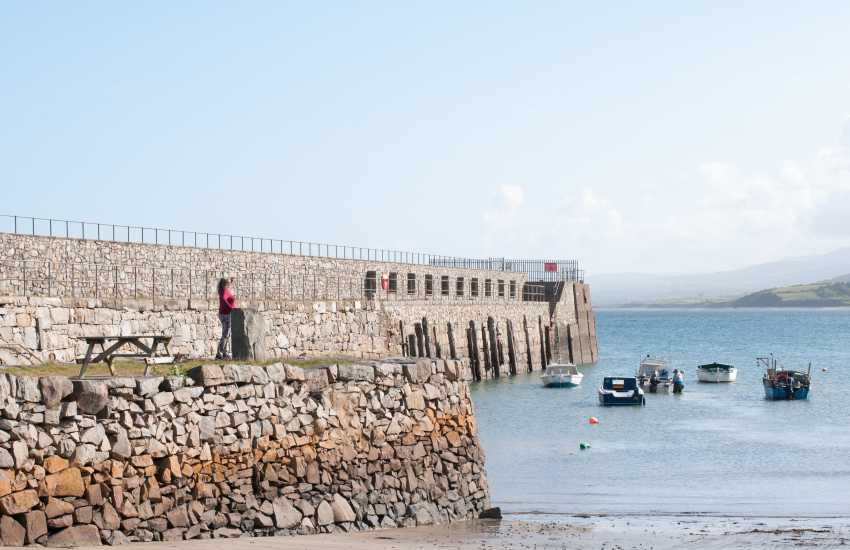 Trefor's small harbour wall favourite spot for fisherman