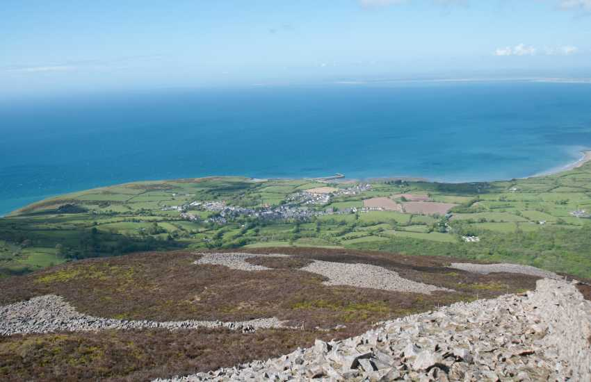Trefor village from Tre'r Ceiri Hill fort