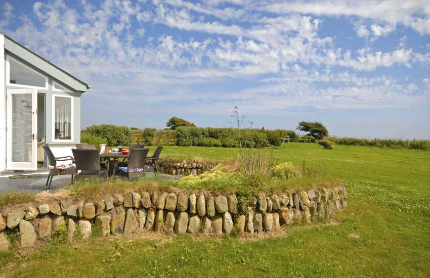 Solva holiday house with gardens and sea views