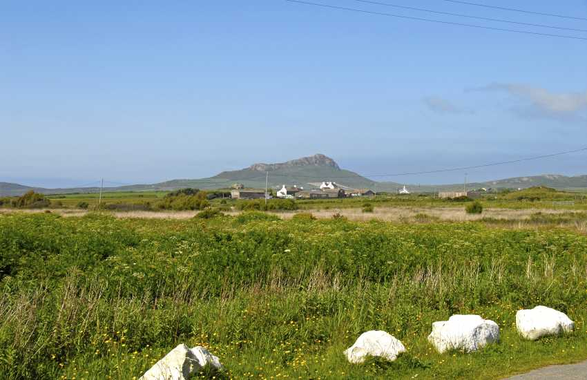 Panoramic views from the Chapel to Carn Lidi and the coast