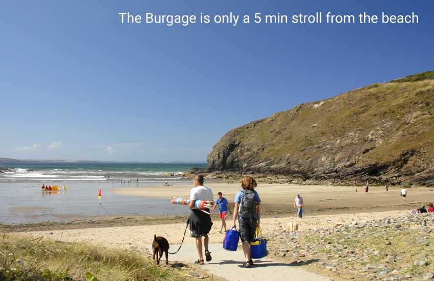 The Burgage is only a 5 min stroll from the beach
