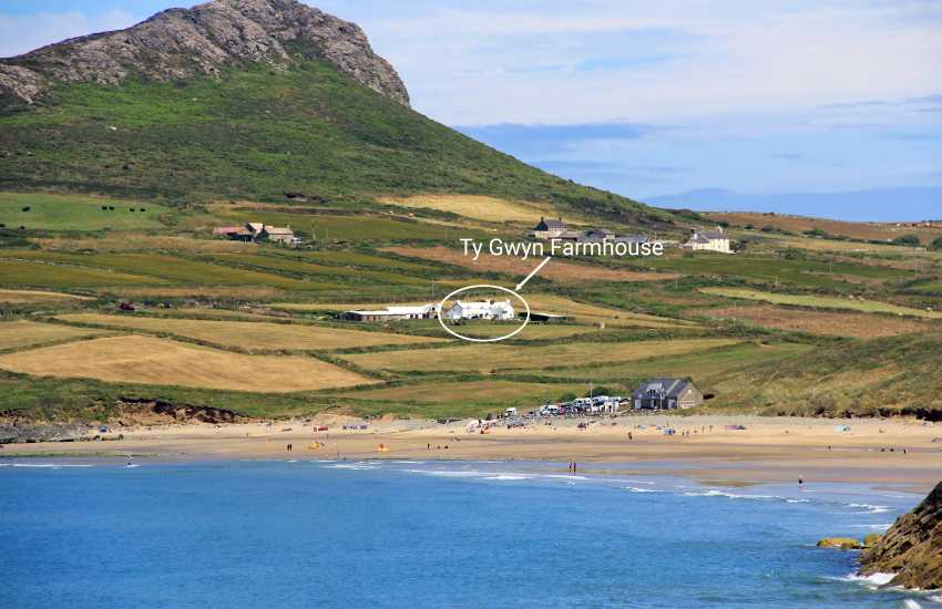 North Pembrokeshire farmhouse over looking Whitesands Beach