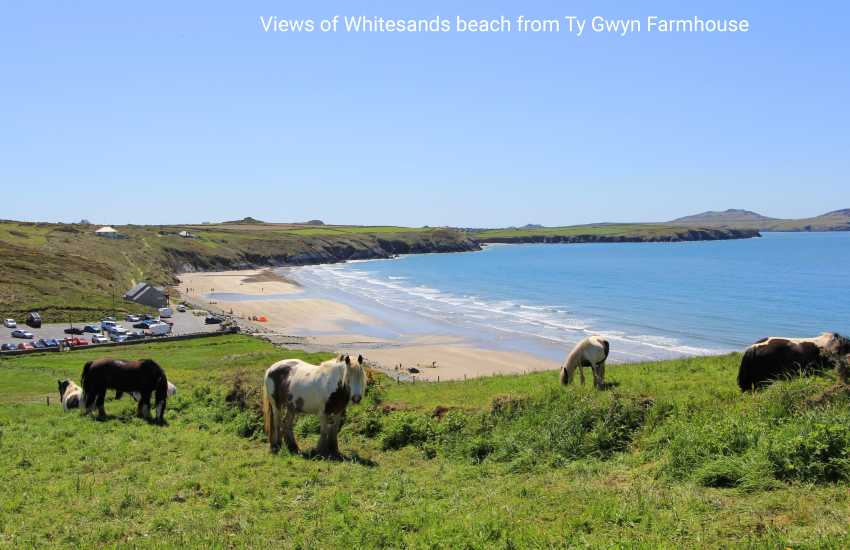 Views of Whitesands beach from Ty Gwyn Farmhouse
