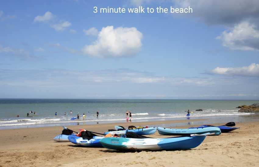 3 minute walk to Tresalth beach