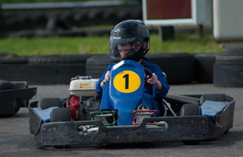 Go karting at Glasfryn Parc, Llyn Peninsula