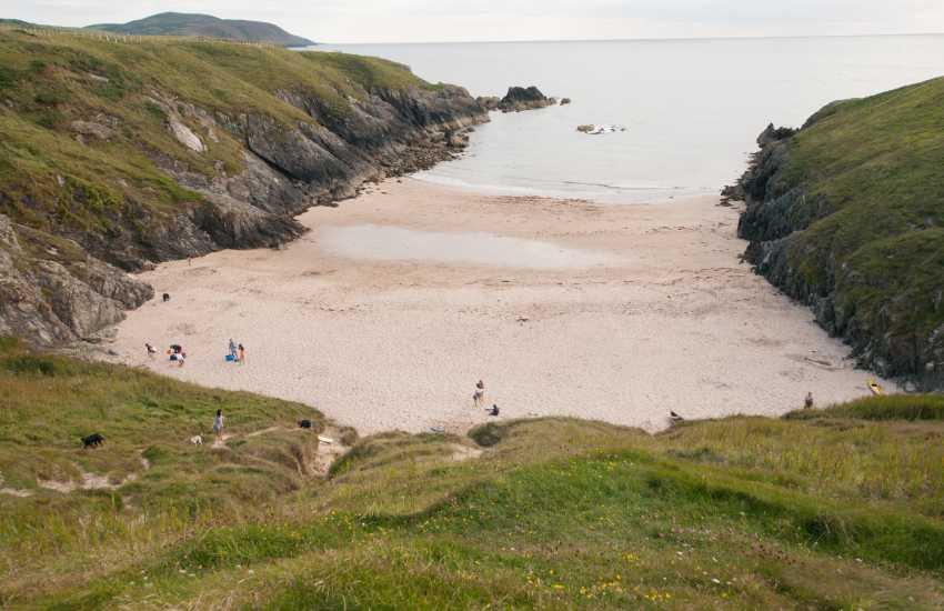 Secluded Porth Iago beach near Aberdaron