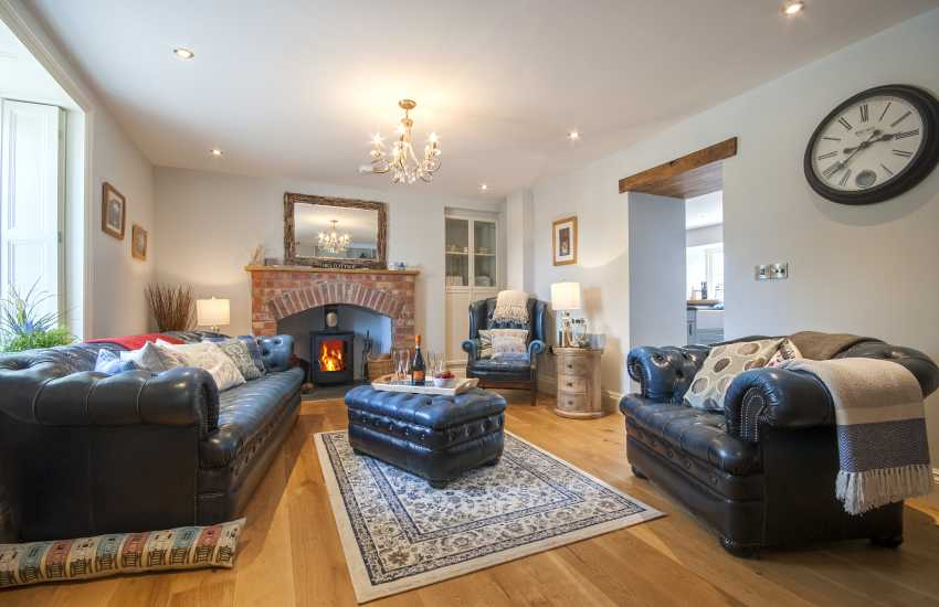 Victorian Pembrokeshire cottage - sitting room with log burning stove