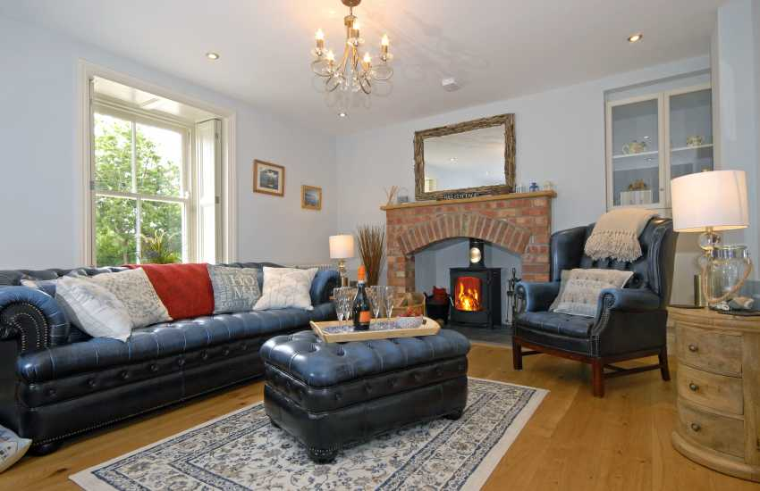 Victorian Pembrokeshire cottage - sitting room with wood burning stove