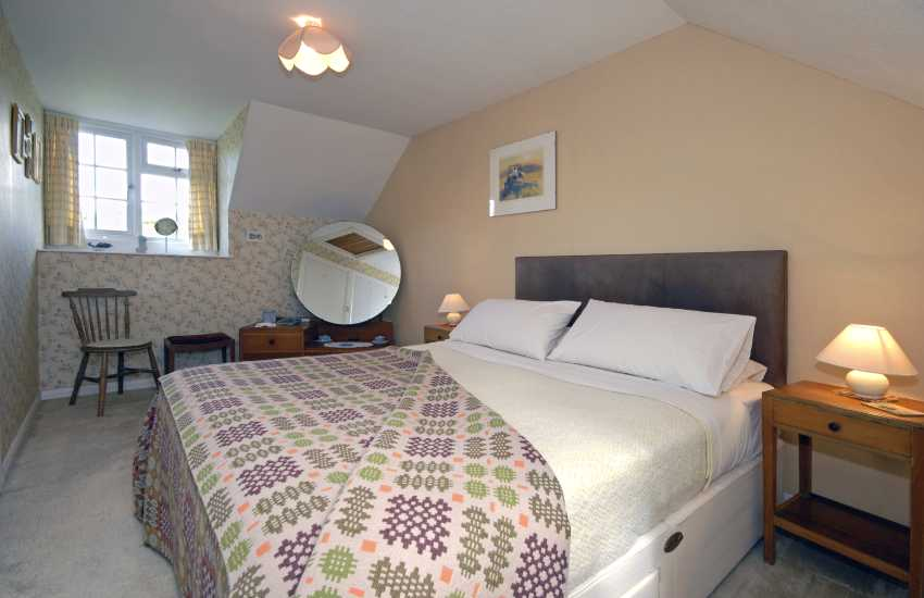 Solva cottage double bedroom