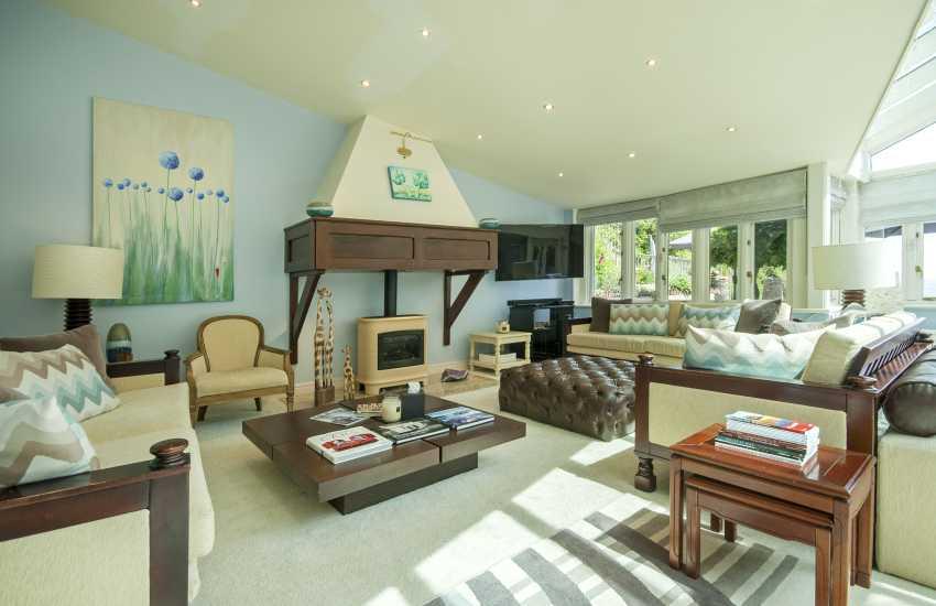 Sky Room with log burner