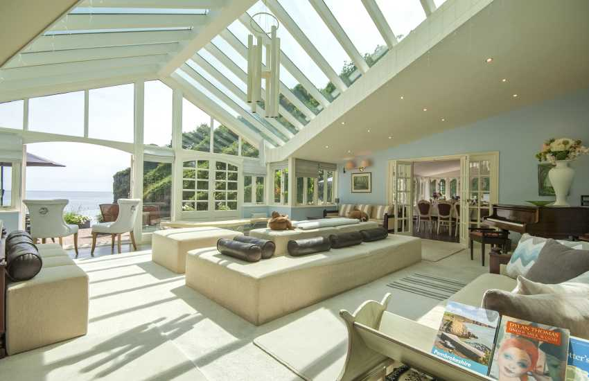 Sky Room with glass roof and sea views