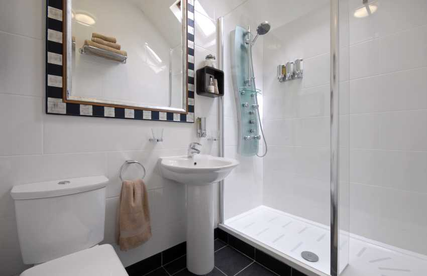 Leather - en suite shower