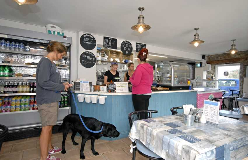 The Cornerhouse Cafe, Little Haven has a lovely seaside interior with lots of tasty snacks to enjoy
