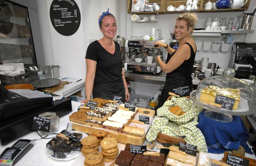 Cornerhouse Cafe in Little Haven offers a great selection of cakes, sandwiches, ice cream and the service is super friendly