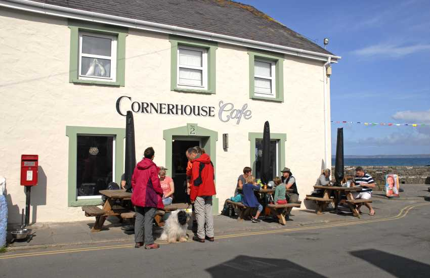 The Cornerhouse Cafe, Little Haven is right next to the beach - enjoy a breakfast bap, simple lunch, or a wonderful dessert!