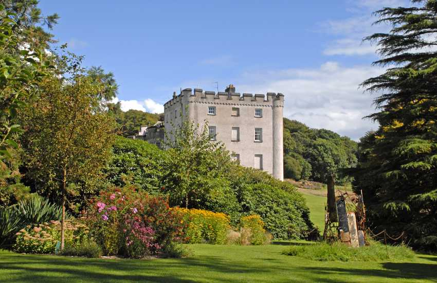 Picton Castle & Gardens - a medieval 13th century castle with guided tours, a cafe, gallery, craft shop and 40 acres of magnificent woodland and walled gardens to explore