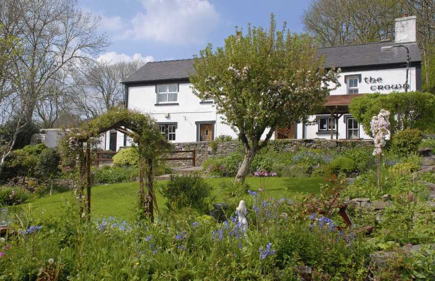 The Crown Inn, Llwyndafydd is a traditional dog friendly country inn with good value home cooked food and a large children's play area