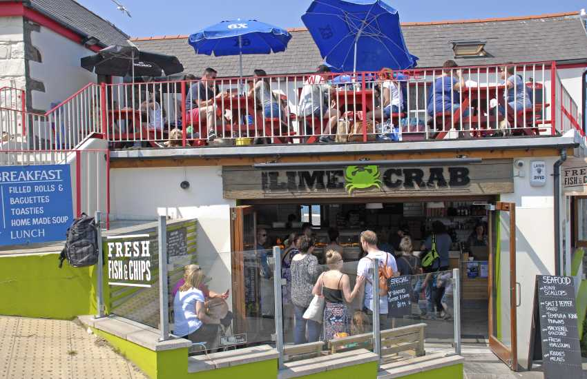 Try 'The Lime Crab' for fish and chips on the pier - a local favourite not to be missed by visitors